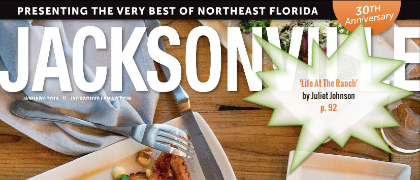 Juliet Johnson Home Profile in Jacksonville Magazine cover